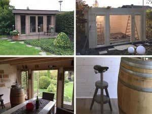 Gartenhaus Madera-40b Iso wird Weinstube