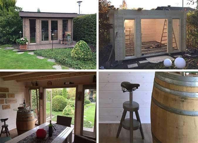 madera 44 b iso ein gartenhaus wird weinsch ppchen. Black Bedroom Furniture Sets. Home Design Ideas
