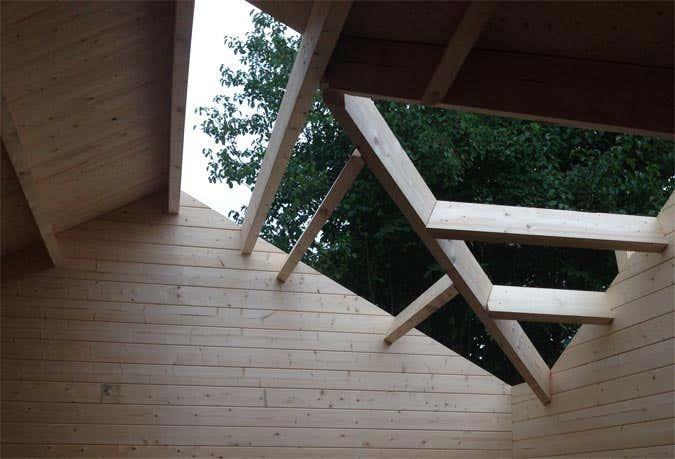 Aufbau Gartenhaus Toronto-44 Iso Dach