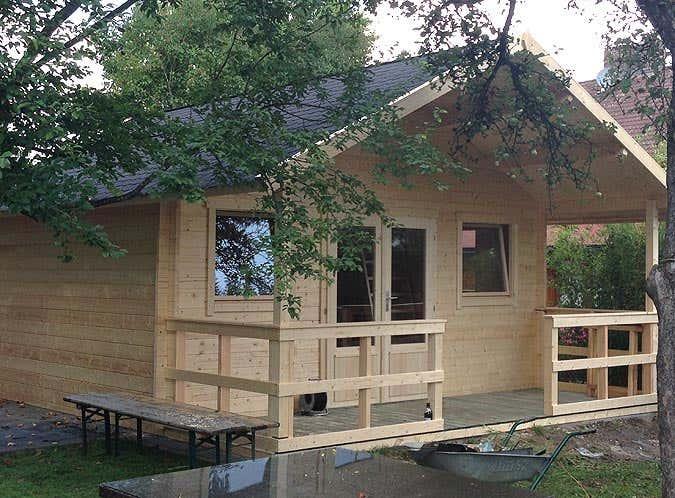 Aufbau Gartenhaus Toronto-44 Iso komplett