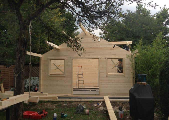 Aufbau Gartenhaus Toronto-44 Iso