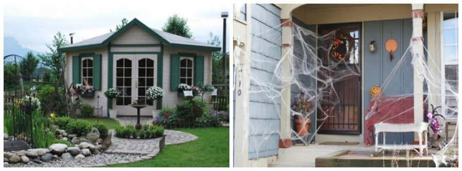 Gartenhaus als Geisterschloss