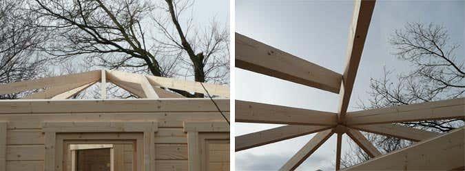 das saunahaus sandor 70 aufbau mit individuellem dach. Black Bedroom Furniture Sets. Home Design Ideas