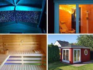 Sternen himmel in der Sauna