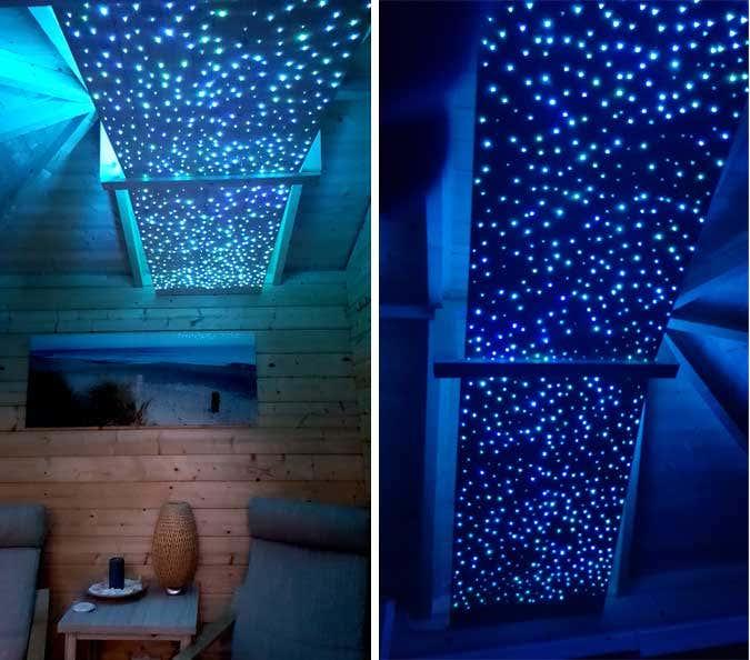 ein sternenhimmel f r sauna gartenhaus so geht 39 s. Black Bedroom Furniture Sets. Home Design Ideas