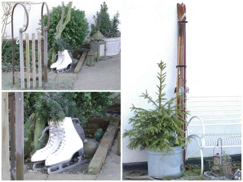 Gartendeko-Fundstücke zu Weihnachten
