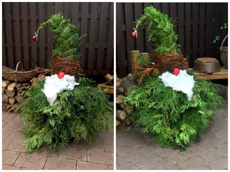 Weihnachtsdeko f r drau en kreative ideen zum selberbasteln - Ast zum dekorieren ...