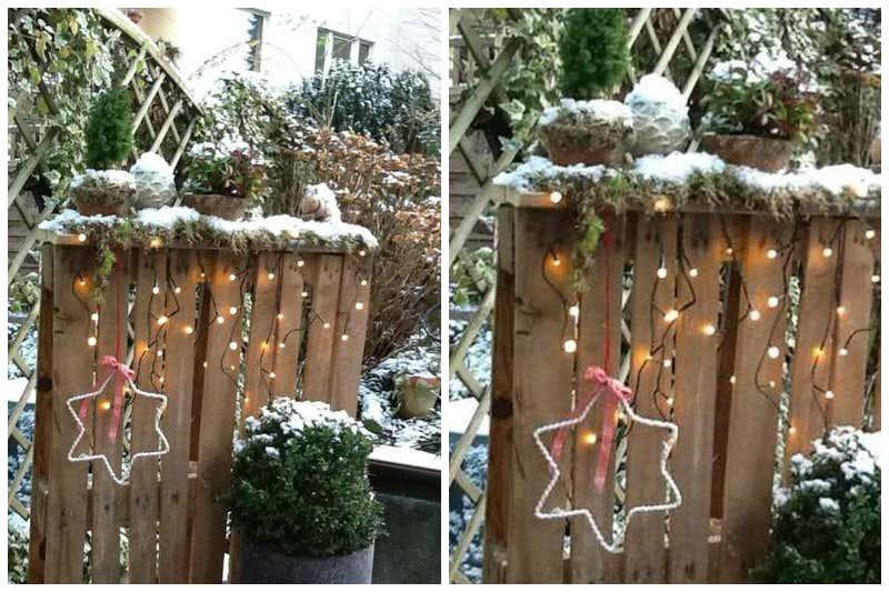 Weihnachtsdeko f r drau en kreative ideen zum selberbasteln for Deko holzpalette