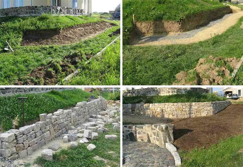 Aufbau Trockensteinmauer - Gartenblogs