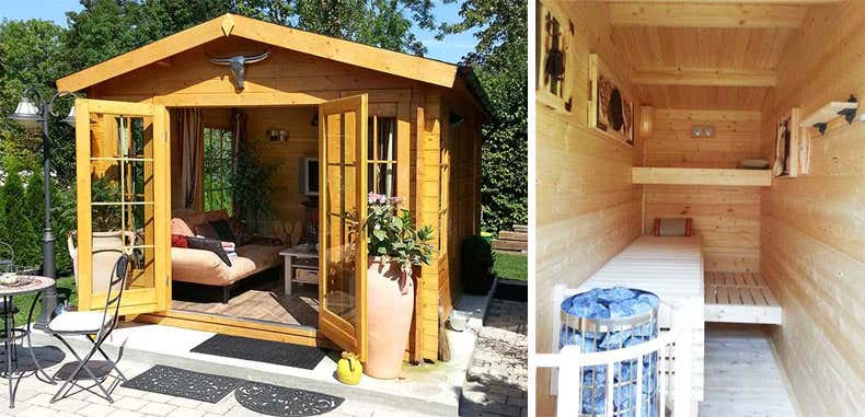 gartenhaus umbauen sauna my blog. Black Bedroom Furniture Sets. Home Design Ideas