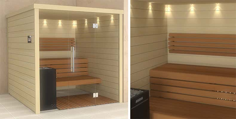 Sauna Innenkabine Modell 1 Manda