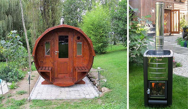 sauna mit holzofen sauna heizung holzofen oder elektro ferienwohnung fichtelgebirge. Black Bedroom Furniture Sets. Home Design Ideas