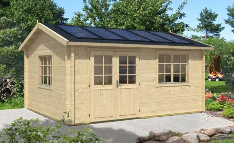 Gartenhaus für Solardach
