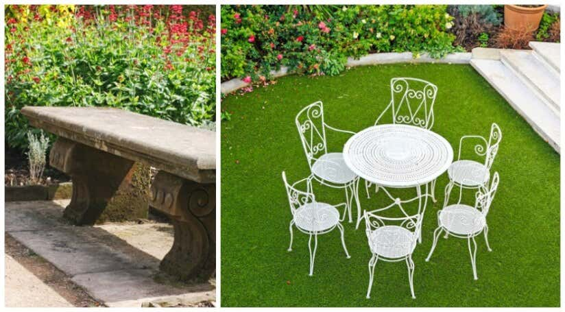 Möbel aus Stein und Metall für den Barockgarten