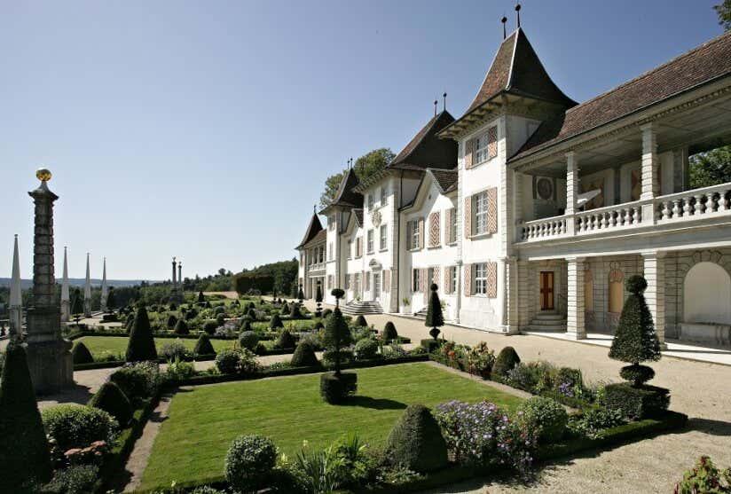 Französischer Garten von Schloss Waldegg in der Schweiz