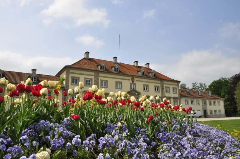 Blumenbeet im französischen Garten
