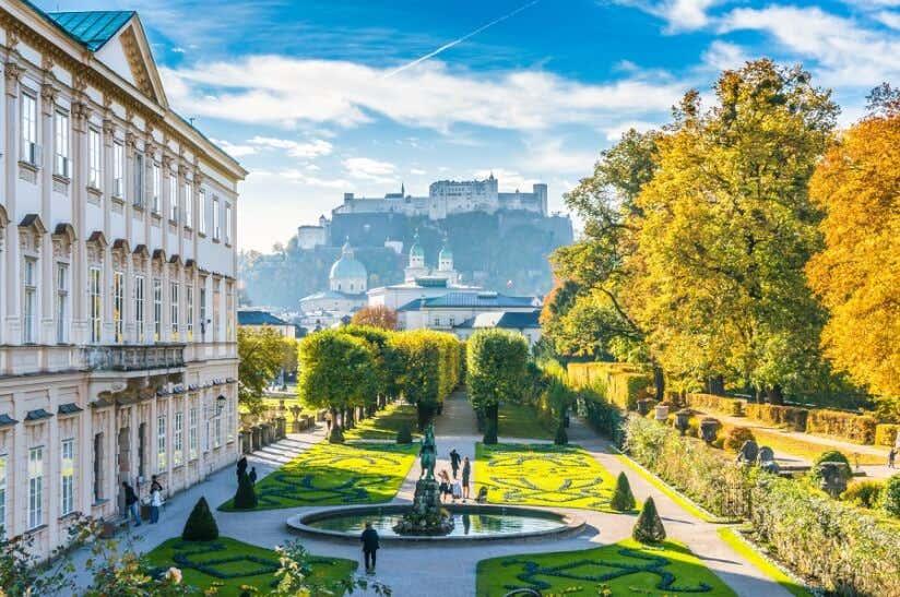 Barockgarten Mirabell in Salzburg