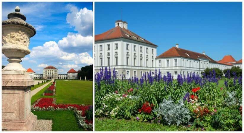 Schloss Nympenburg in München mit barocker Gartenanlage