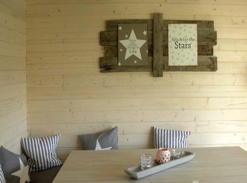Gartenhaus Deko: Leere Wände waren gestern!