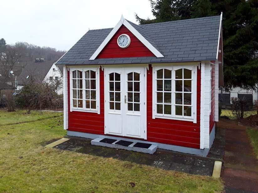 Clockhouse mit anbau im selbstbau so toll kann es aussehen - Gartenhaus clockhouse ...