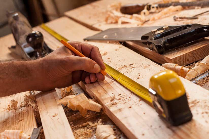 Holz Maßband Bleistift