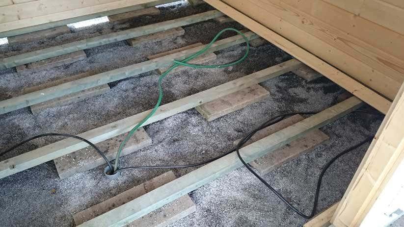 Gartenhaus Fußboden Aufbau ~ Gartenhaus mit infrarotkabine sauna mal anders