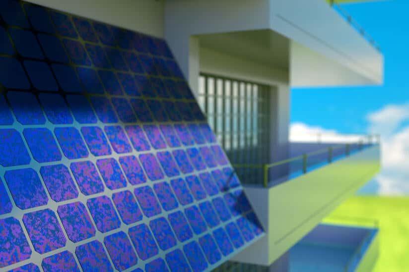 Solarzelle Balkon