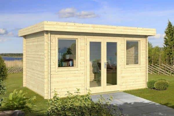 Mini gartenhaus 11 kleine gartenh user ganz gro for Blockhaus modern einrichten