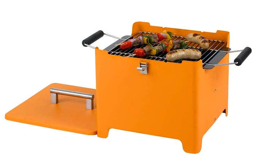 Holzkohlegrill orange