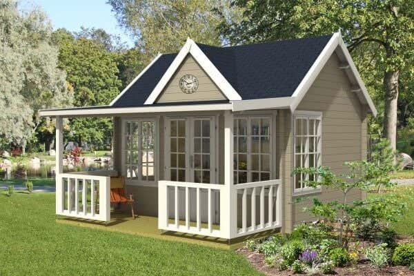Gartenhaus mit terrasse gr en und stile f r ihren garten - Gartenhaus 40 qm ...