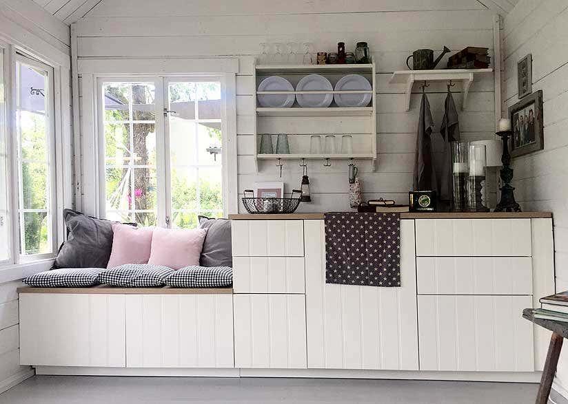 aufbewahrung im gartenhaus wohin mit den vielen dingen. Black Bedroom Furniture Sets. Home Design Ideas