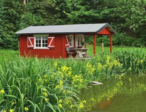 Ein st ck urlaub zuhause flachdach gartenhaus quinta for Ferien am see