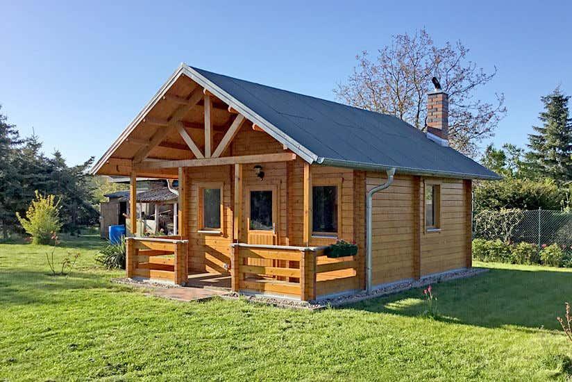 gr nes wohnen das gartenhaus lillehammer wird aufgebaut. Black Bedroom Furniture Sets. Home Design Ideas