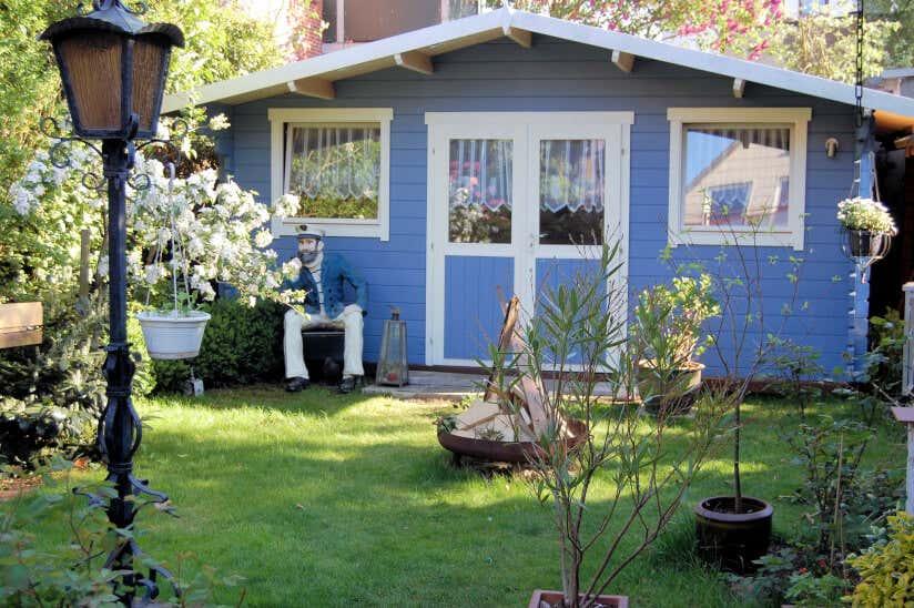 Beliebt Bevorzugt Gartenhäuser in Blau, die zum Träumen einladen @XO_33