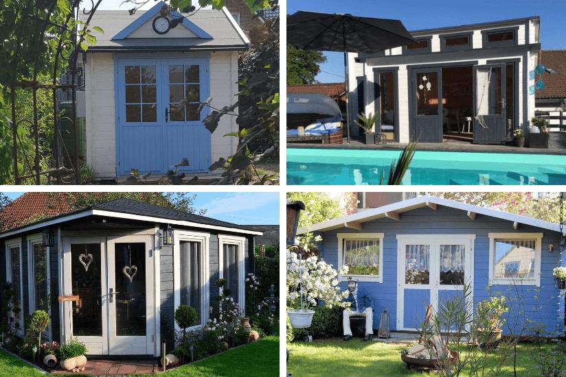 Atemberaubend Gartenhäuser in Blau, die zum Träumen einladen &VF_45