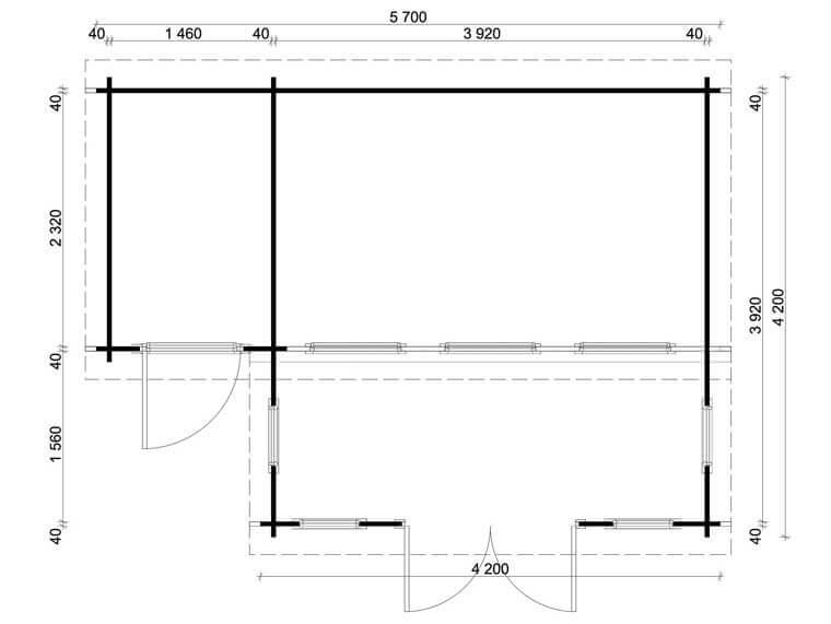technik im anbau ein gartenhaus als poolhaus. Black Bedroom Furniture Sets. Home Design Ideas