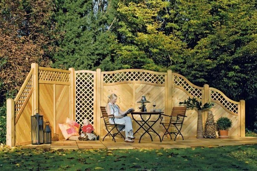Garten Sichtschutz Ideen Gabionen Pflanzen Holz Co