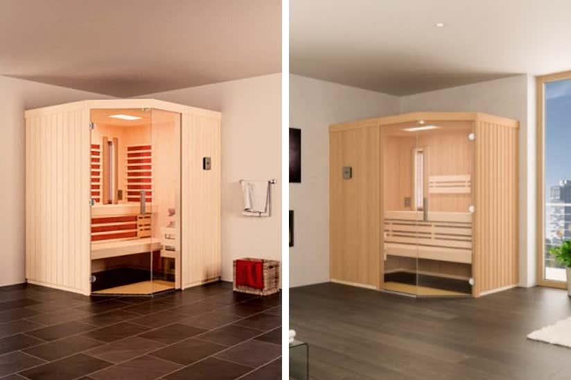 Infrarotkabine oder Sauna