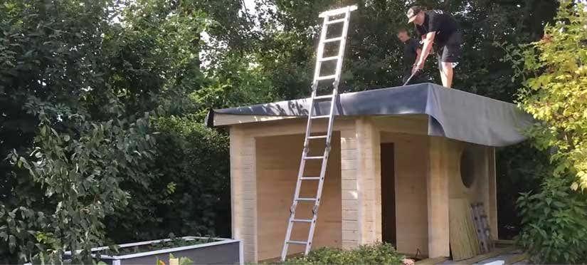 Relativ Gartenhaus: Dach decken - so geht's Schritt für Schritt! VO64