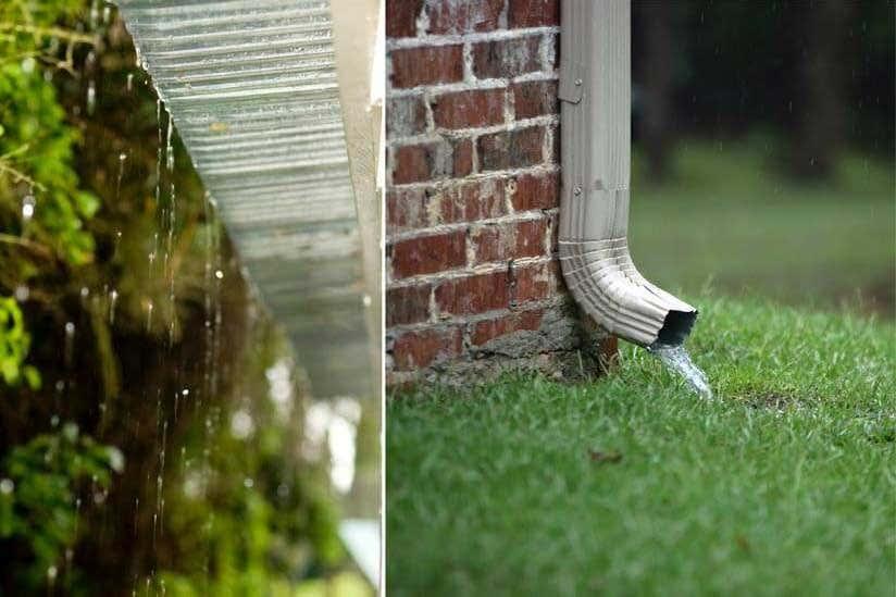 terrassendach entwaesserung regen