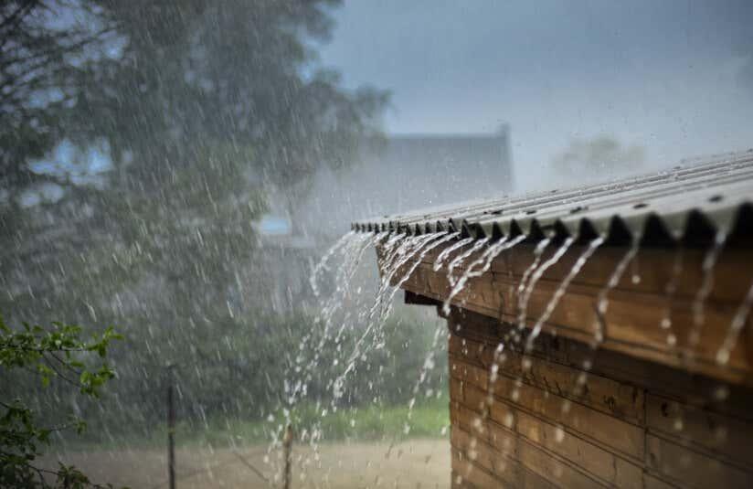 Dachneigung Regen