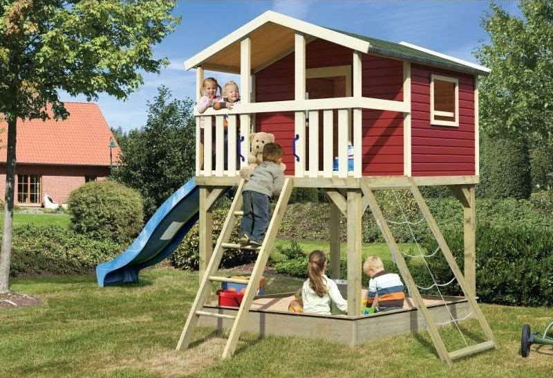 Kinderspielgerät Spielturm Rutsche Sandkasten