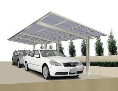 Aluminium Carports kaufen: Metall-Carport aus Alu bis zu -50%