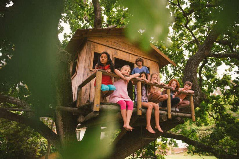 Baumhaus Kinder Garten