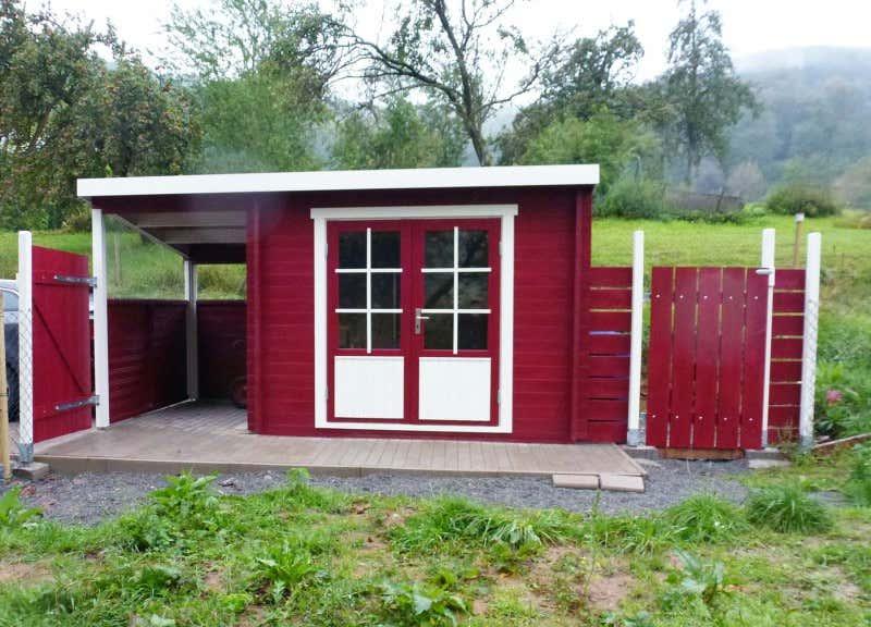Pultdach gartenhaus modell maria 28 mit schleppdach for Geratehaus holz pultdach