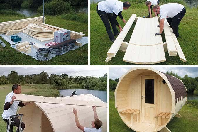 Ein Sauna Fass Aufbauen