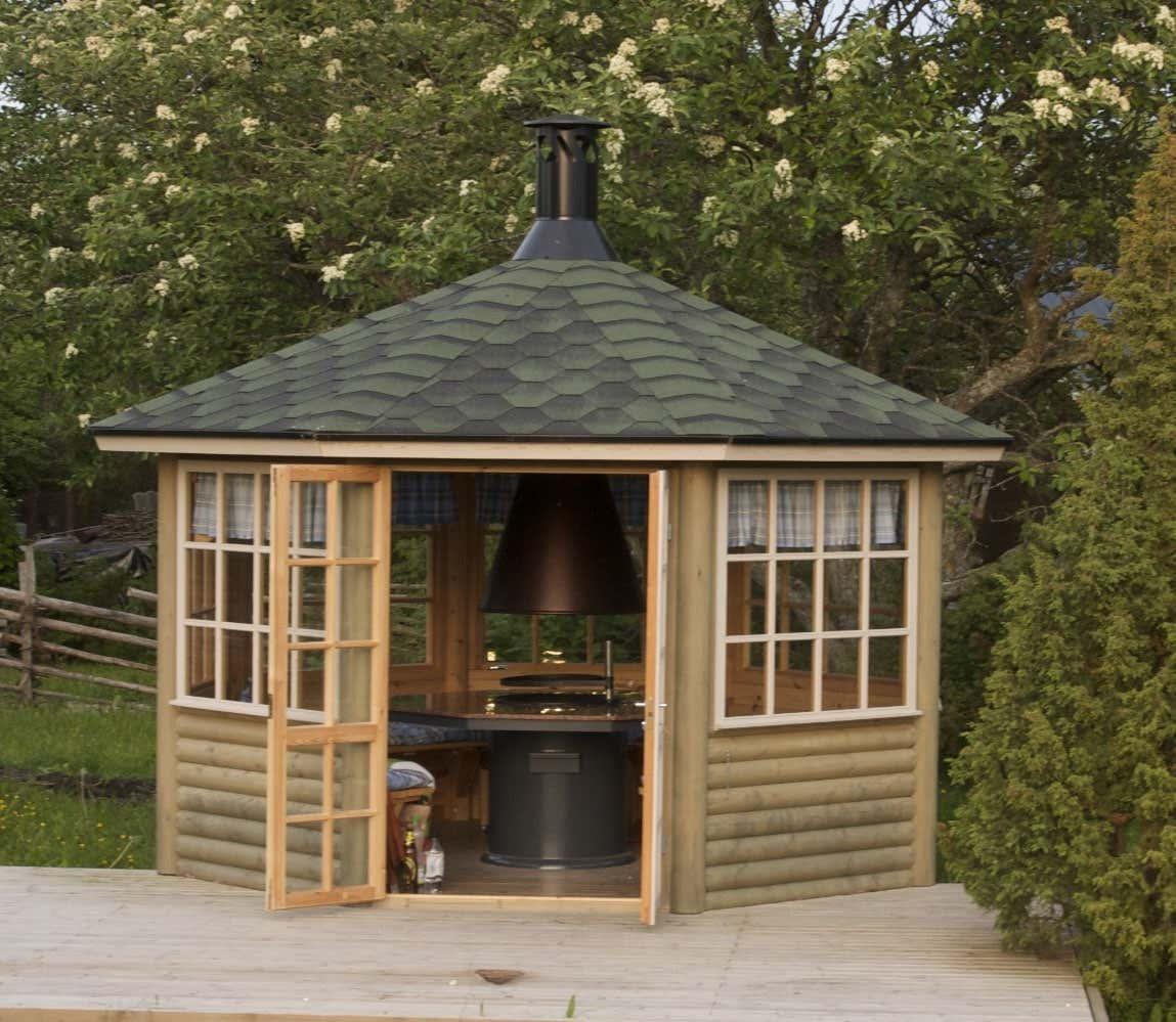 8 eck grillpavillon scandia 9m a z gartenhaus gmbh. Black Bedroom Furniture Sets. Home Design Ideas