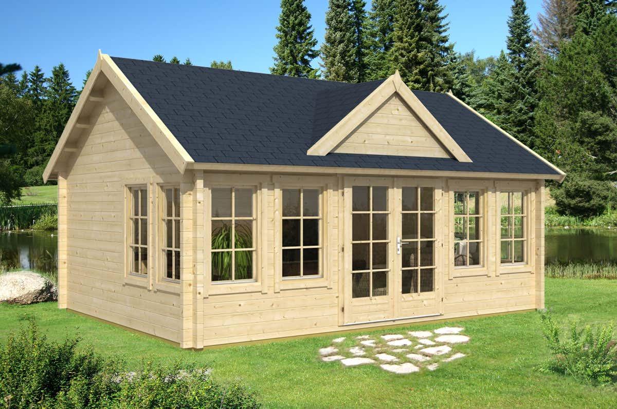 gartenhaus clockhouse xl 70mm a z gartenhaus gmbh. Black Bedroom Furniture Sets. Home Design Ideas