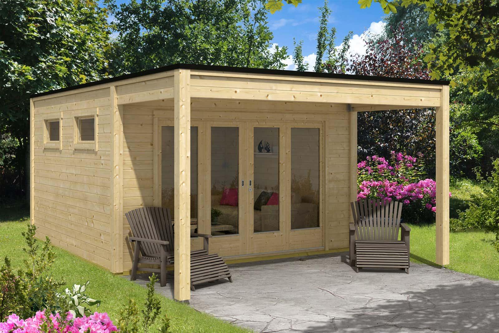 Design gartenhaus cubus saturn40 a z gartenhaus gmbh - Modernes gartenhaus flachdach ...
