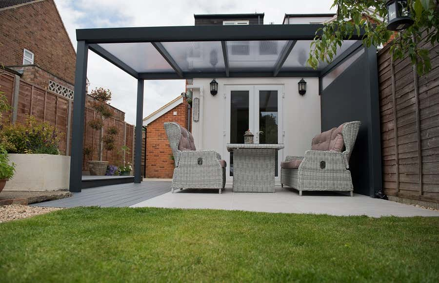 terrassen berdachung freistehend 300 x 200 cm a z. Black Bedroom Furniture Sets. Home Design Ideas